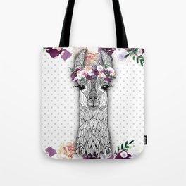 FLOWER GIRL ALPACA Tote Bag