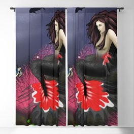 The Red Mermaid Blackout Curtain