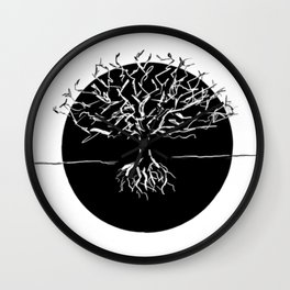 white oak Wall Clock