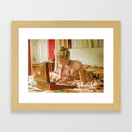 Letter to a loved one Framed Art Print