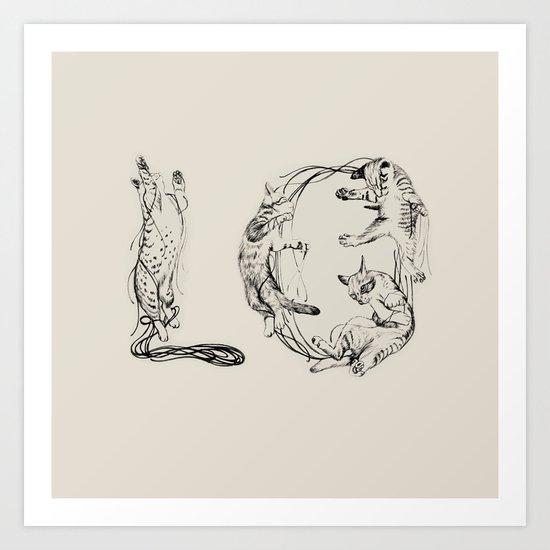 Lo- Meaw Art Print