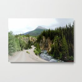 Crossing the Animas River to the Mayflower Mine Metal Print