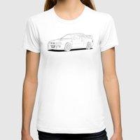 subaru T-shirts featuring Subaru Impreza 22B STI Type UK Line Illustration by Digital Car Art