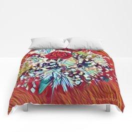 Brighten Your Day Flowers Comforters