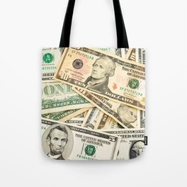 dollar bills Tote Bag