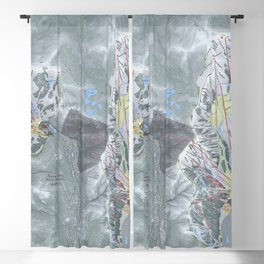 Squaw Valley Alpine Meadows Trail Map Blackout Curtain
