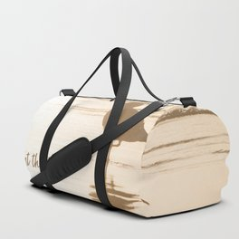 Meet Me at the Beach (typography) Duffle Bag