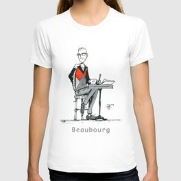 A Few Parisians: Beaubourg by David Cessac T-shirt