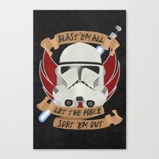 Clone War Propaganda Canvas Print