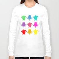 sea turtle Long Sleeve T-shirts featuring TURTLE by Brittney Weidemann