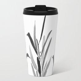 Eucalyptus Branches Black And White Travel Mug