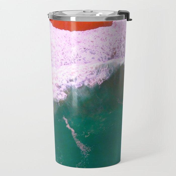 Water Print, Ocean Art Print, Sea, Wave, Wall Art Decor, Bathroom Print, Blue Water Poster, Bathroom Travel Mug