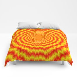 Big Bang in Red and Yellow Comforters