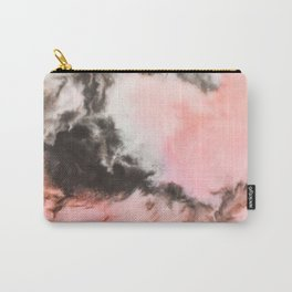Pink and black marbled paper Carry-All Pouch