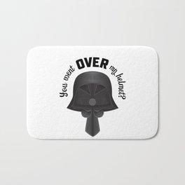 You Went OVER my Helmet? - Dark Helmet Spaceballs Bath Mat