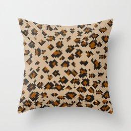 Pixelated Leopard Throw Pillow