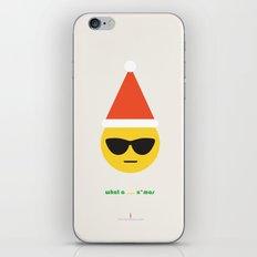 Emoji: What a ... x'mas (Sunny) iPhone & iPod Skin