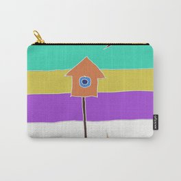 birdhouse and cat Carry-All Pouch