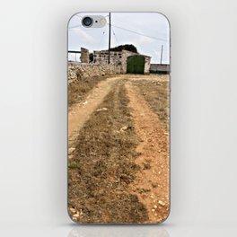 Farm Road in Ciutadella iPhone Skin