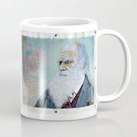 darwin Mugs featuring Charles Darwin by Michael Cu Fua
