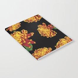 Floral Theme- Chrysanthemum Watercolor Painting Notebook