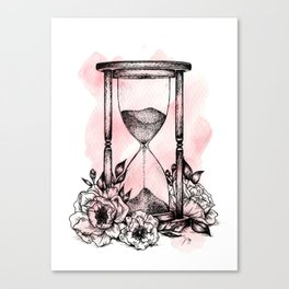 Floral Hourglass Canvas Print