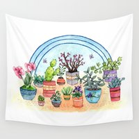plants Wall Tapestries featuring Household Plants by Brooke Weeber