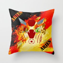 Birth Sign Aries Throw Pillow