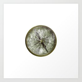 Broken Compass Art Print