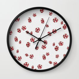 Peppermint Candy in White Wall Clock