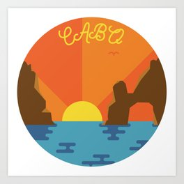 Cabo Sunset Art Print