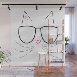 Nerdy Kitty Wall Mural