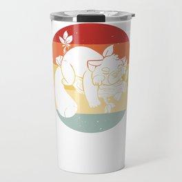Red Panda Bear Sweet Vintage Retro Travel Mug