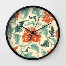 Chinese peony Wall Clock