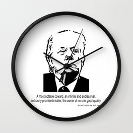 A Most Notable Coward Wall Clock