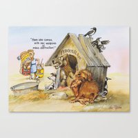 weapons of mass creation Canvas Prints featuring weapons of mass destruction  by Rose Rigden
