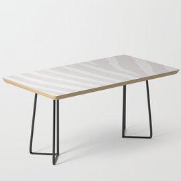 Tan & Off White Zebra Print Coffee Table