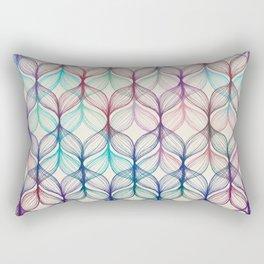 Mermaid's Braids - a colored pencil pattern Rectangular Pillow