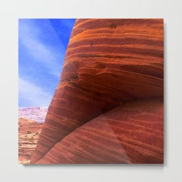 Southwest Rustic Red Canyons: The Wave, Paria Wilderness Metal Print