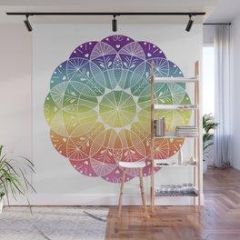 Pride Rainbow Gradient Mandala Wall Mural