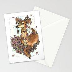 Deer in Flowers Stationery Cards