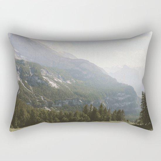 A Switzerland Mountain Valley - Landscape Photography Rectangular Pillow