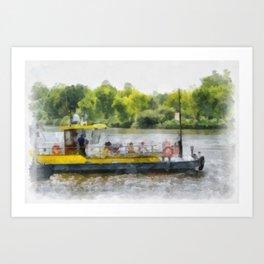Stéphanie - excursion boat - Scheldt Art Print