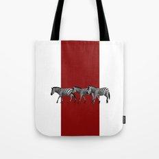 Lined Zebras Tote Bag