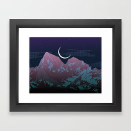 Pixel Mountain Framed Art Print