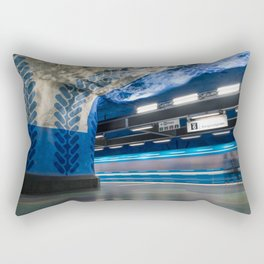 T-Centralen Metro Station in Stockholm, Sweden V Rectangular Pillow