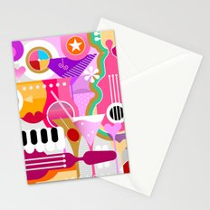Cocktails and Music Stationery Cards