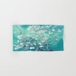 Vincent Van Gogh Almond Blossoms Turquoise Hand & Bath Towel