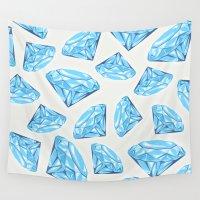 diamond Wall Tapestries featuring diamond by Ceren Aksu Dikenci