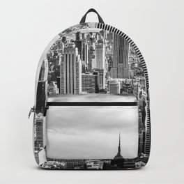 New York City Cityscape (Black and White) Backpack